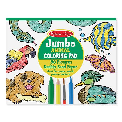 Melissa & Doug - Jumbo Coloring Pad - Animals