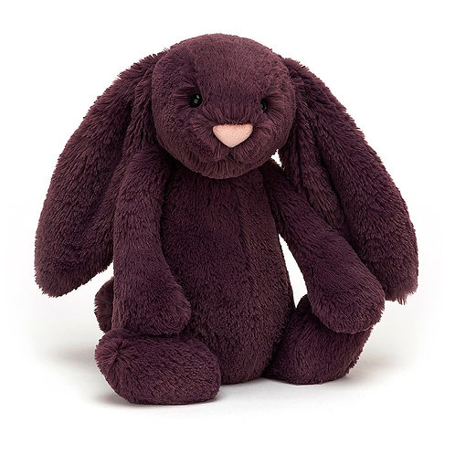 "Jellycat - Bashful Plum Bunny - Medium 12"""