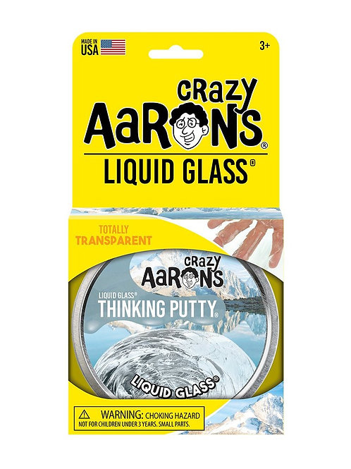 """Crazy Aaron's Thinking Putty - 4"""" Clear - Liquid Glass"""