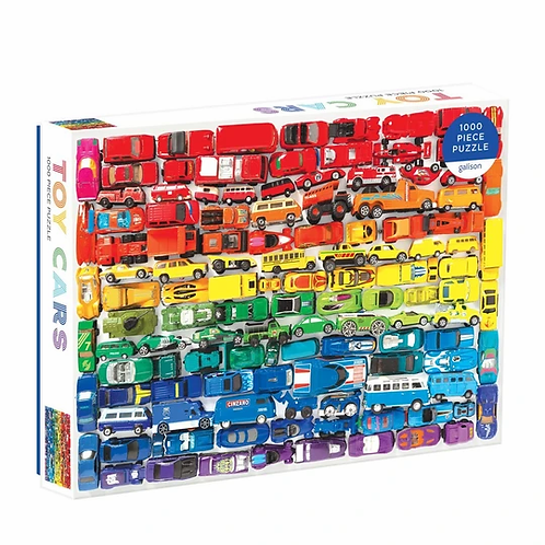 Galison - Rainbow Toy Cars - 1000 Piece Puzzle