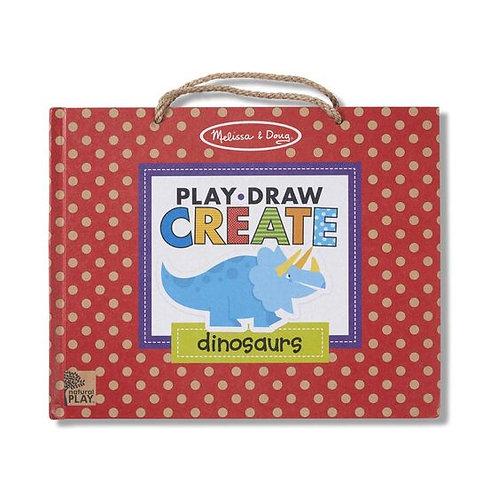 Melissa & Doug - Play, Draw, Create Reusable Drawing & Magnet Kit - Dinosaurs