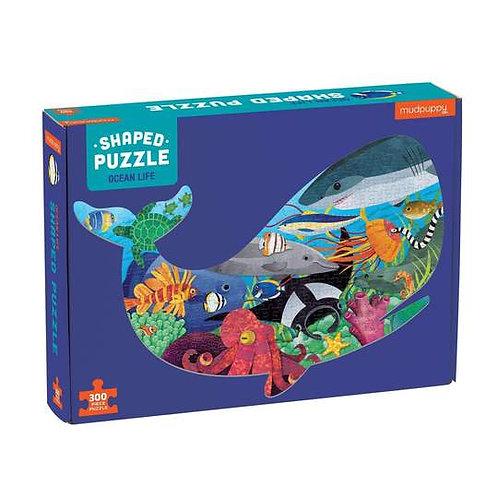 Mudpuppy - Ocean Life Shaped Puzzle 300 pc