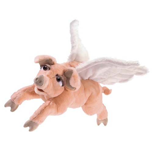 Folkmanis Hand Puppet- Flying Pig