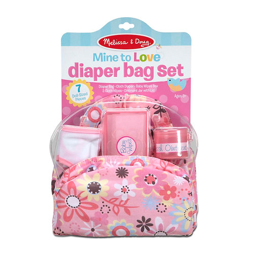 Melissa & Doug - Mine to Love - Diaper Bag Set
