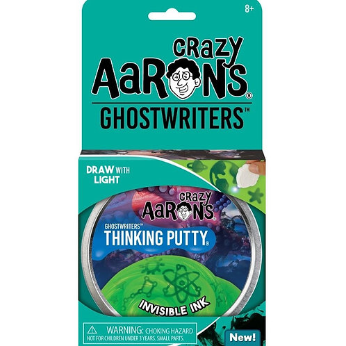 "Crazy Aaron's Thinking Putty - 4"" Ghostwriters - Invisible Ink"