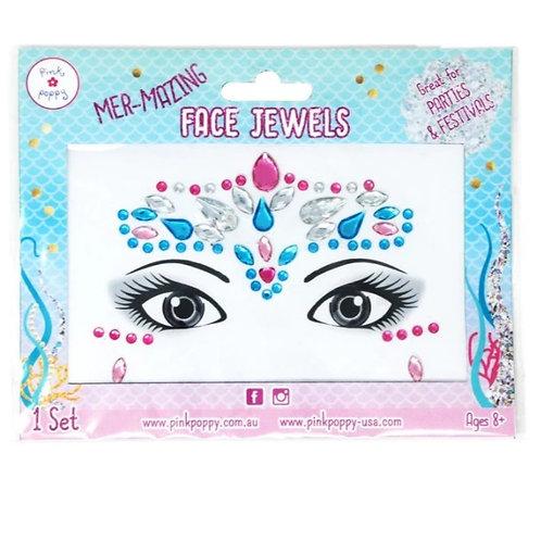 Pink Poppy - Princess Mermazing Face Jewels