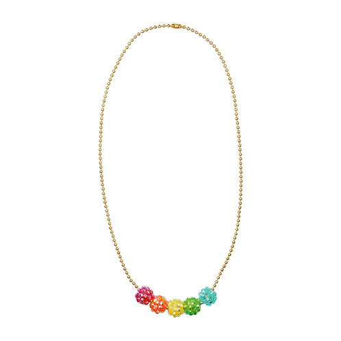 Pink Poppy - Sparkling Gem Bead Necklace
