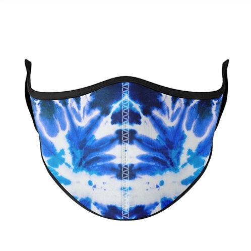 Top Trenz - Blue Tie-Dye Mask - Small/Kids