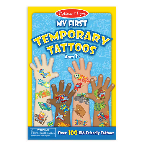 Melissa & Doug - My First Temporary Tattoos -Blue