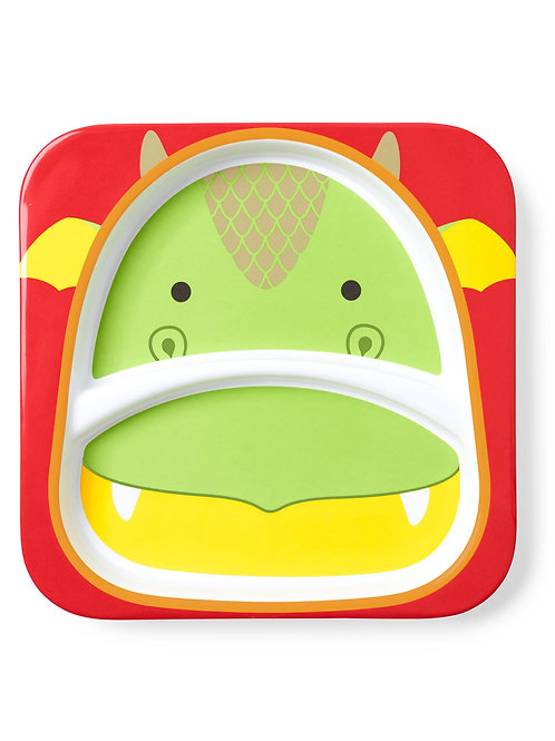 Skip Hop - Zoo Little Kid Plate - Dragon
