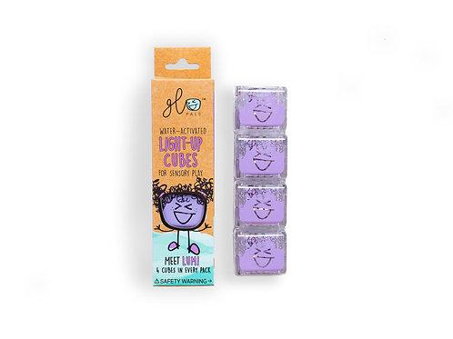 Glo Pals Light Up Bath Cubes - 4 Pack - Purple