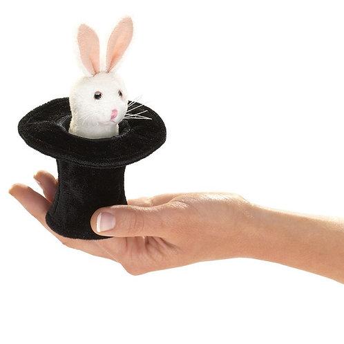 Folkmanis Finger Puppet - Mini Rabbit in Hat