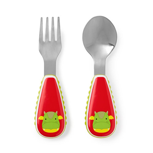 Skip Hop - Zootensils Fork & Spoon Set - Dragon