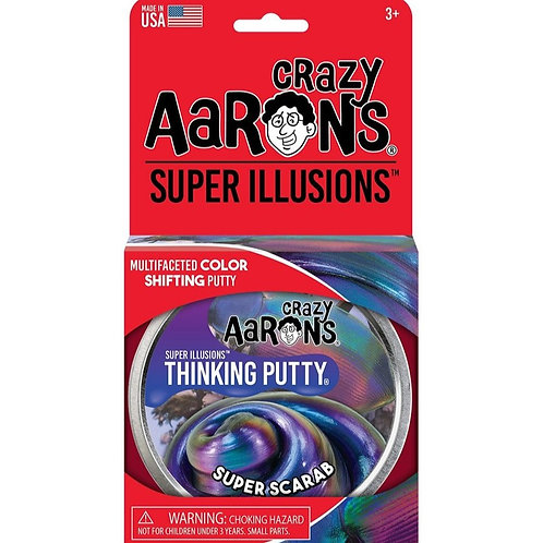 "Crazy Aaron's Thinking Putty - 4"" Super Scarab - Illusions"