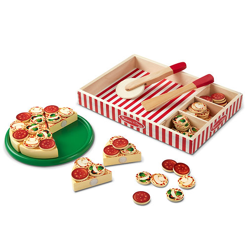 Melissa & Doug - Pizza Party - Wooden Play Food
