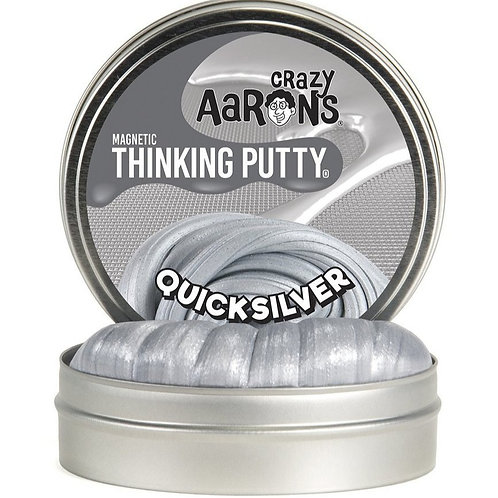 """Crazy Aaron's Thinking Putty - 4"""" Quicksilver - Magnetic"""