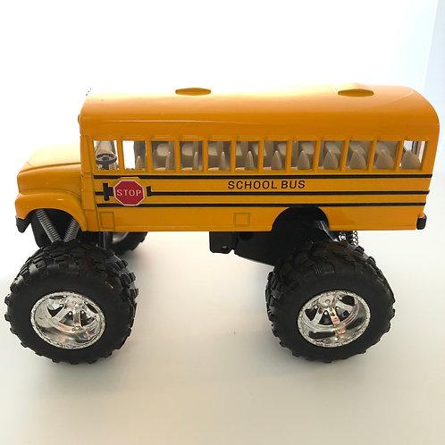 Pull-Back Monster School Bus