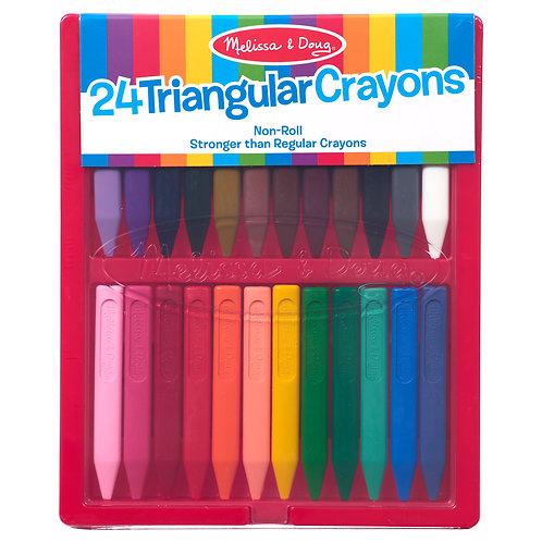 Melissa & Doug - Crayon Set -24 Triangular