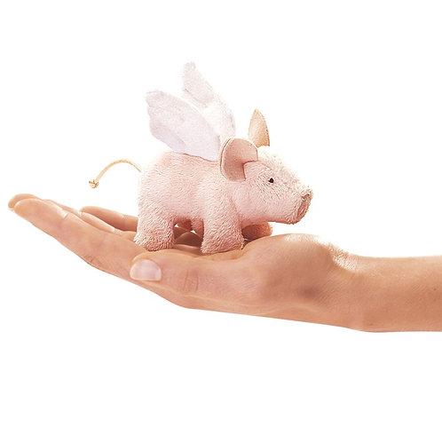 Folkmanis Finger Puppet - Mini Winged Piglet