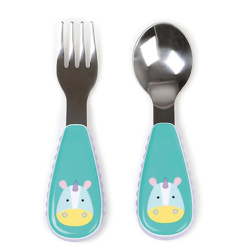 Skip Hop - Zootensils Fork & Spoon Set -  Unicorn
