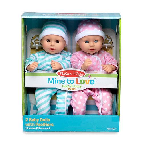 Melissa & Doug - Mine to Love - Luke & Lucy Twin Dolls