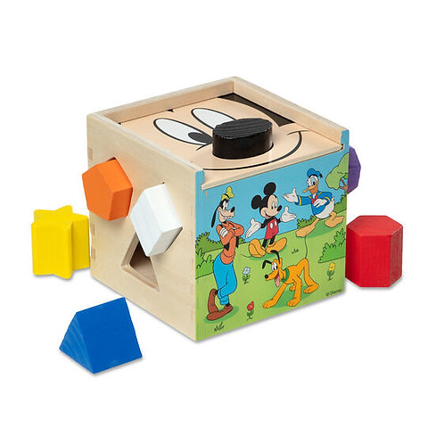 Melissa & Doug - Mickey Mouse Wooden Cube Puzzle