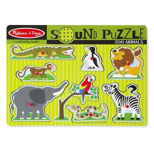 Melissa & Doug- Zoo Animals Sound Puzzle