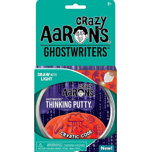 "Crazy Aaron's Thinking Putty - 4"" Ghostwriters - Cryptic Code"