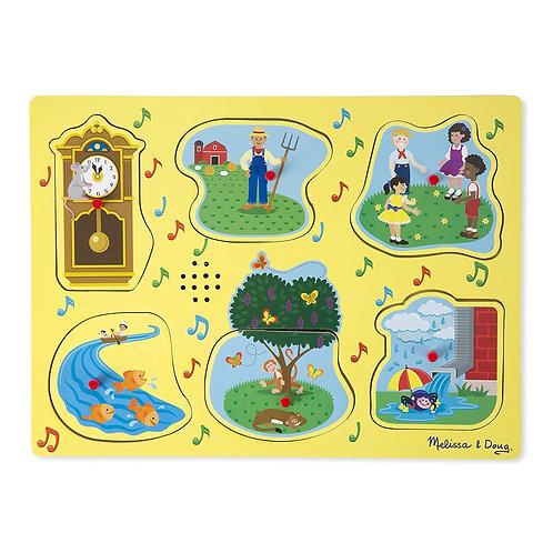 Melissa & Doug - Sing-Along Nursery Rhymes 1 Sound Puzzle