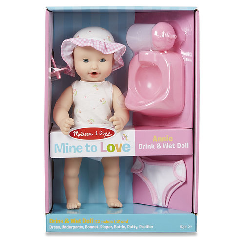 """Melissa & Doug - Mine to Love - Annie 12"""" Drink & Wet Doll"""