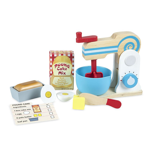 Melissa & Doug - Wooden Make-a-Cake Mixer Set