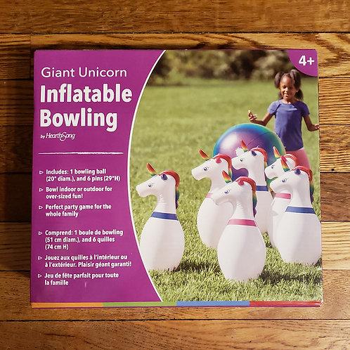 Hearthsong - Giant Unicorn Inflatable Bowling