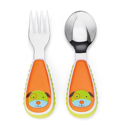 Skip Hop - Zootensils Fork & Spoon Set -  Dog