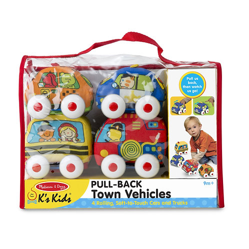 Melissa & Doug - Pull-Back Town Vehicles Baby and Toddler Toy