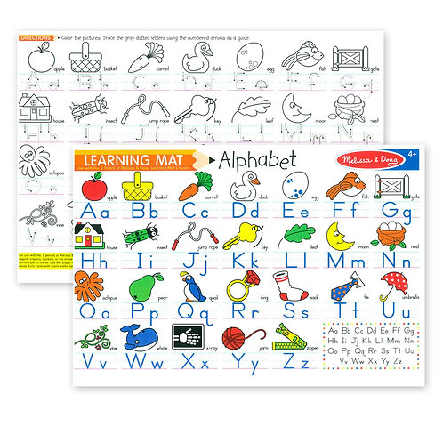 Melissa & Doug - Learning Mat Alphabet