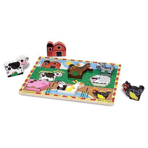 Melissa & Doug - Farm Animals Chunky Puzzle