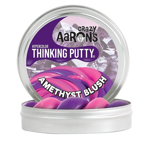 """Crazy Aaron's Thinking Putty - 2"""" Amethyst Blush - Hypercolor"""