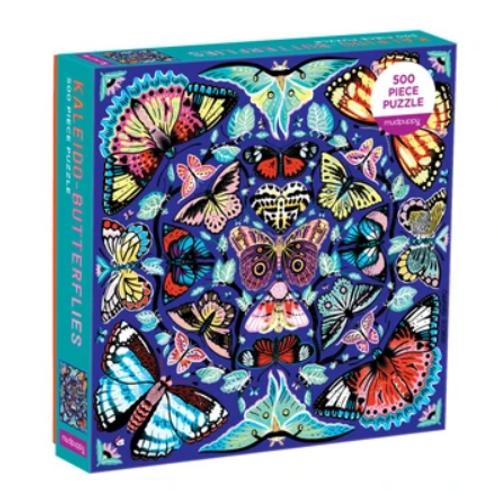 Mudpupy - Kaleido-Butterflies - 500 Piece Puzzle