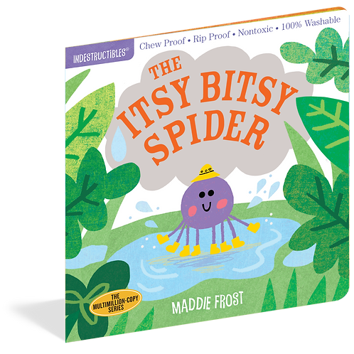 Workman Publishing - Indestructibles - Baby Books - Itsy Bitsy Spider