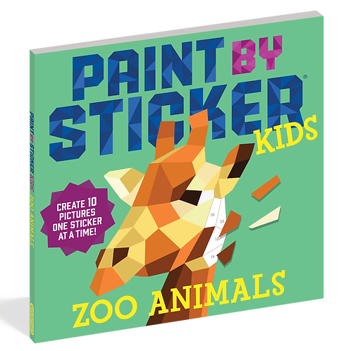 Workman Publishing - Paint By Sticker Kids - Zoo Animals