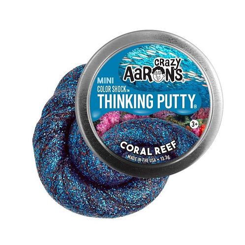 """Crazy Aaron's Thinking Putty - 2"""" Coral Reef - Colorshock"""