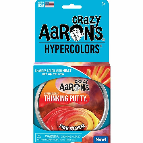 """Crazy Aaron's Thinking Putty - 4"""" Firestorm - Hypercolor"""