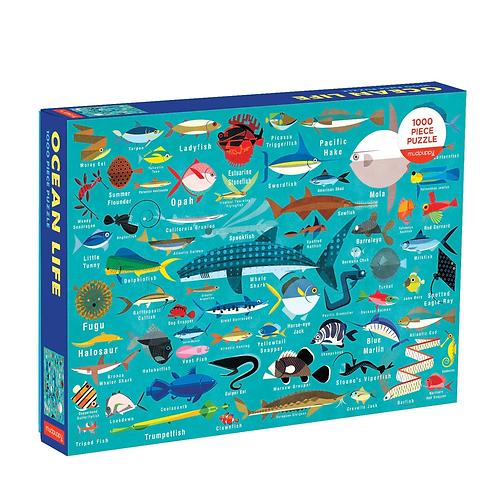 Mudpuppy - Ocean Life 1000 Piece Puzzle
