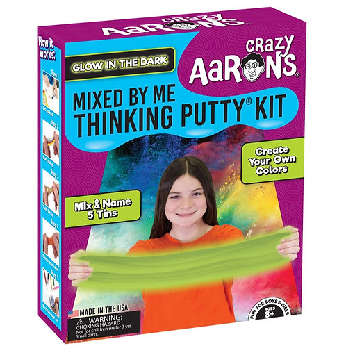 Crazy Aaron's Thinking Putty - Glow in the Dark - Mix by Me Kit