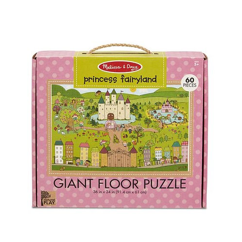 Melissa & Doug - Natural Play Floor Puzzle - Princess Fairyland