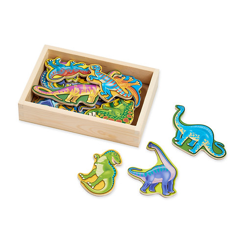 Melissa & Doug - Magnetic Wooden Dinosaur Magnets