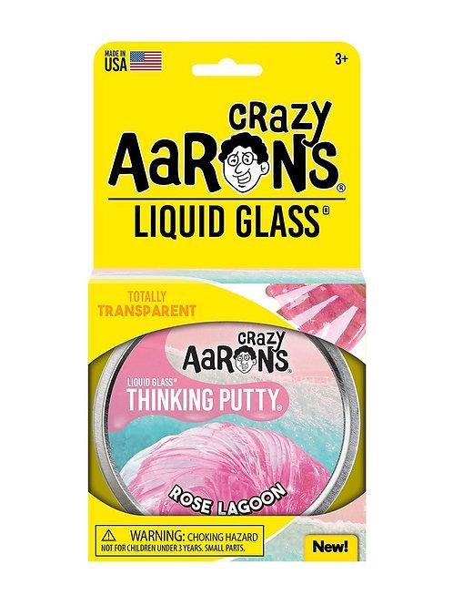 "Crazy Aaron's Thinking Putty - 4"" Rose Lagoon - Liquid Glass"
