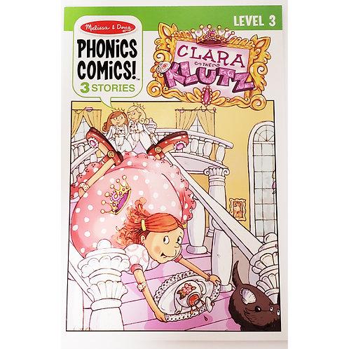 Melissa & Doug - Clara the Klutz - Phonics Comics