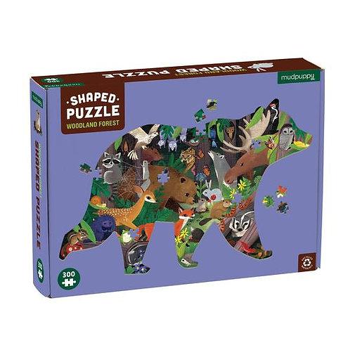 Mudpuppy - Woodland Forest Shaped Puzzle - 300 pc