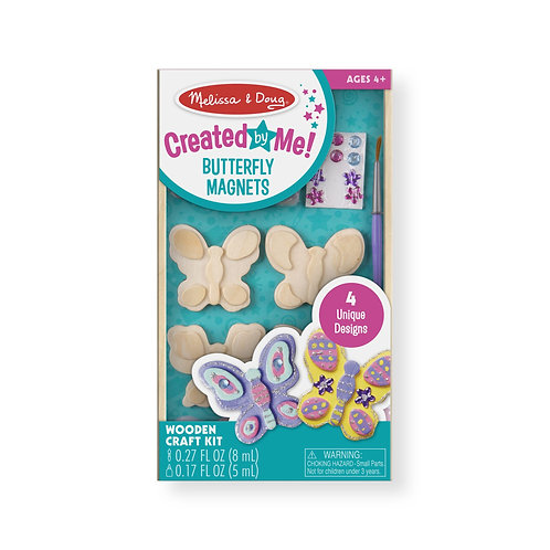 Melissa & Doug - Created by Me! Butterfly Magnets Wooden Craft Kit